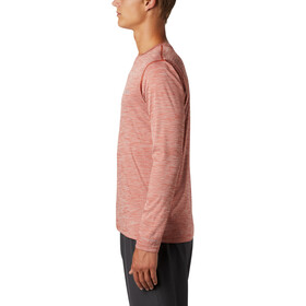 Columbia Zero Rules T-shirt à manches longues Homme, carnelian red heather